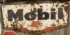 Old Mobil gas station signs by jefftowell, via Flickr