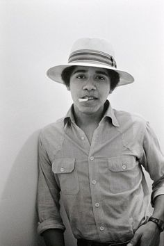 I am re-pinning this because of the haters. Please don't comment...it's going onto my board because I LIKE it. This is Obama as a young man, making mistakes and growing up. Cool dude!