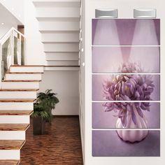 Designart 'Autumn Flower in Vase' Floral Glossy Metal Wall Art