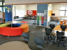 innovative classrom (photos in Jacqui Sharp http://elearningclassroom.wikispaces.com/Class+Photos)