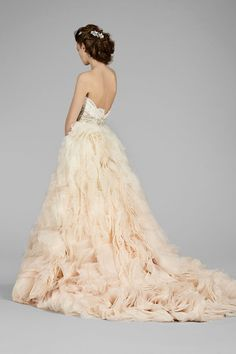 The same beautiful Lazaro wedding gown, different view.