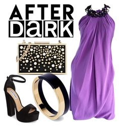"""After Dark Party"" by chatnoir-673 ❤ liked on Polyvore featuring Karl Lagerfeld, Steve Madden, Pamella Roland, Marni, chic, party, Sexy and afterdark"