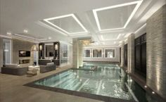 Who says a swimming pool has to be blue - I think this platinum is very sophisticated and elegant.
