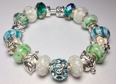 Authentic Pandora Bracelet designed with by QueenMeJewelryLLC, $209.00