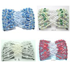 Casualfashion Pack of 4 Handmade Beaded Ez Combs, Stretchable Hair Combs, Hair Clips, Fashion Women Headwear * Read more reviews of the product by visiting the link on the image.