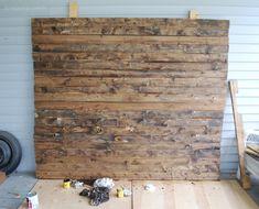 DIY Faux Distressed Wood Backdrop | brepurposed