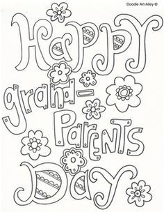 Grandparent's Day coloring sheets                              …