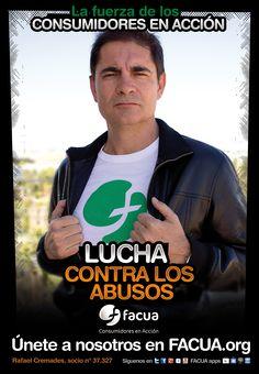 Rafael Cremades, socio de FACUA nº 37.327, llama a los consumidores a la lucha contra los abusos