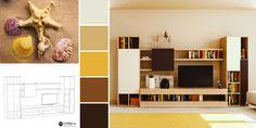 Un mobilier în culori calde, cu iz de vacanță! ☀️🐚 Mobiles, Shelving, Bookcase, Home Decor, Prague, Perspective, Shelves, Decoration Home, Room Decor