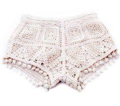 Play Six Crochet Pom Pom Shorts