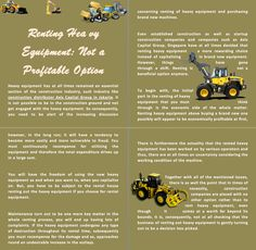 Renting Heavy Equipment: Not a Profitable Option