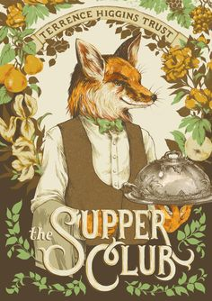Restaurant guide cover illustration for The Supper Club, a fundraising event by Teagan White