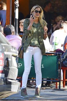 Bar Refaeli. Calças Jeans Coloridas, Jeans Branco, Estilo De Rua De Verão, 33f2363025