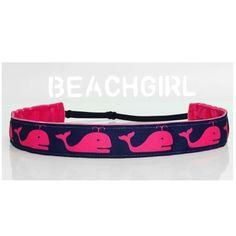 Beached Whale ~  Non Slip Adjustable Headband