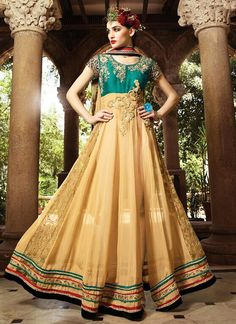 Snug Cream Georgette Anarkali Suit
