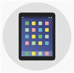 apple, ipad, mobile, multimedia, round, tablet, technology icon