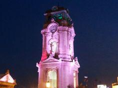 Vista Nocturna Del Reloj Monumental Fotos Pachuca Nocturno