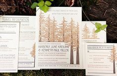 Thank you to Wedding Row California for including us on your site! Our clients, Kim and Ken, are featured in their real wedding section, along with one example of our redwood tree letterpress weddi...