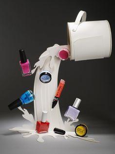 Uma ótima ideia para vitrine de cosméticos! <3 #VM CLM - Photography - Lacey - beauty products