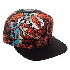 8b49aa84320 Bioworld Marvel Comics Carnage Sublimated Crown Black Bill Snapback   Clothing