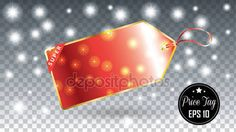 Download - Tag Price. Price Tag red banner on Falling snow transparent Christmas Holiday background. Falling Snowflakes. Falling sparkles. Light effect. Invitation, greeting cards winter background. Winter sale. Night club advertising. Winter tag label. Price — Stock Illustration #129771764