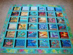 Hawaiian Print Fabric, Hawaiian Quilt Patterns, Hawaiian Quilts, Quilt Block Patterns, Hawaiian Theme, Beach Themed Quilts, Attic Window Quilts, Layer Cake Quilts, Beach Quilt
