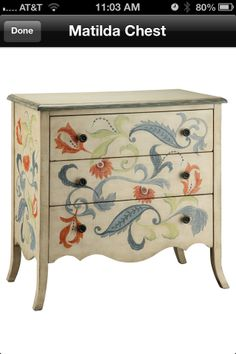 hand painted tables and chairs | painted dresser | Hand Painted walls and furniture