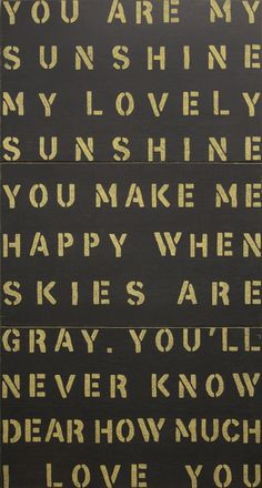 Sugarboo Designs You Are My Sunshine Antiqued Sign, available at #polkadotpeacock. #peacocklove #sugarboodesigns