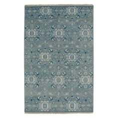 Inspirit 1094 Hand Knotted Rectangle Area Rug - Grey Fog - 1094RS09001300330