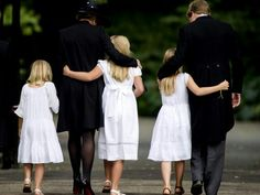 King Wilhem-Alexander and Queen Maxima with their daughters during the funeral of Prince Friso...