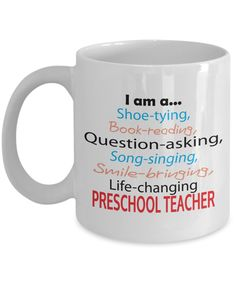 Preschool Teachers have an amazing impact on tiny people's minds. If you know a life-changing Preschool Teacher or are one yourself, then this is a great gift mug for you. - INSPIRATIONAL MESSAGE MUG