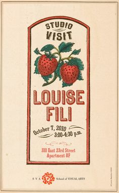 Louise Fili Poster by Leen Sadder, via Behance