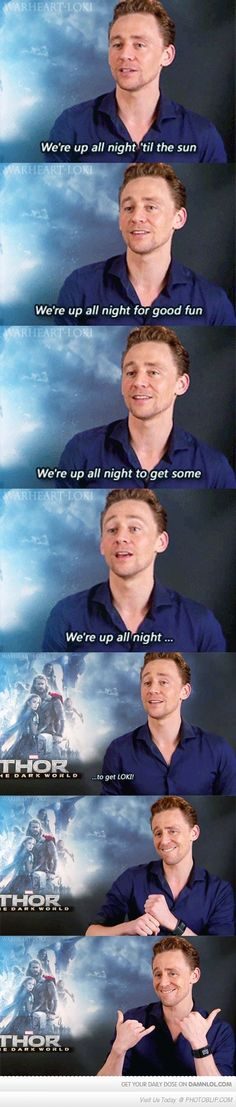 Tom Hiddleston Is Up All Night