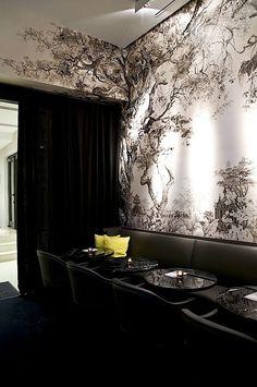 former interior design of Artcurial Café- Paris by Gilles & Boissier François Houtin graphic