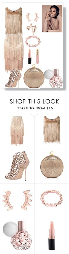"""Rose Gold"" by daniellecarso ❤ liked on Polyvore featuring Tom Ford, Sergio Rossi, Halston Heritage, MAC Cosmetics and Smith & Cult"