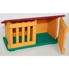 Houten speelgoed konijnenkooitje Rabbit hutch