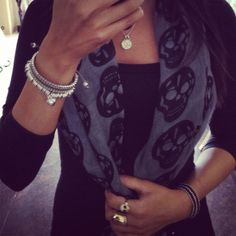 Love the skull scarf