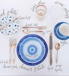 ¿Recuerdas como se pone la mesa? El orden de los cubiertos sigue el orden de comida: de afuera hacia dentro.
