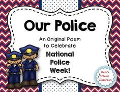 National Police Week is May 14-20, 2017! This is a short, original poem to print and give out to your school police officer. You could even make it part of a little program where students can read it! Add a candy treat to the gift, and it is sure to make their