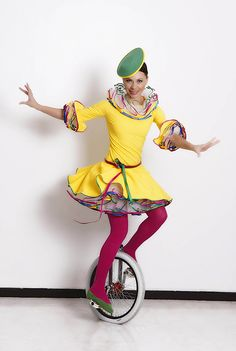 Unicyclists just scream Circus!  http://bigfootevents.co.uk/entertainment/Themed-Events/Circus-Carnival-Mardi-Gras-Theme.as