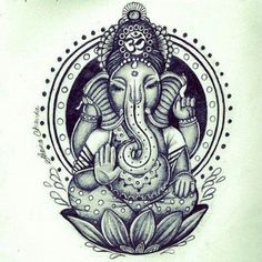 Ganesha - remover of obstacles. I like seeing ideas in pictures