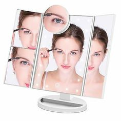 Gecoun Makeup Vanity Mirror With 34 Led Lights Lighted