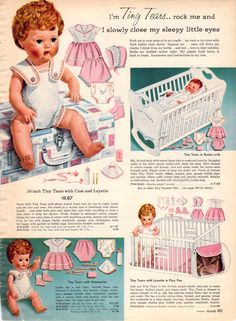 Tiny Tears doll, what a great doll she was.