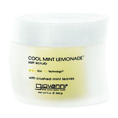 Polish & energize your skin with our Cool Mint Lemonade sea salt scrub! Feel the tingle of crushed mint leaves!