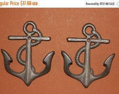 13% OFF 3, Cast Iron Anchor Wall Hooks, Free Shipping, Hat hook, Cast Iron Wall Hook, Anchor Hooks, Anchor Decor, Hat hook, towel hook, key by wepeddlemetal. Explore more products on http://wepeddlemetal.etsy.com