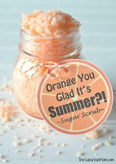 Orange Sugar Scrub & Printable Gift Tag. Great Teacher Gift Idea!