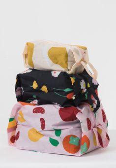 Flora 3D Zipper Pouch Set by Baggu - PRE-ORDER, SHIPS IN JULY