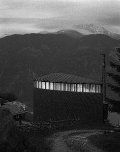 St. Benedict Chapel in Sumvitg, Switzerland by Peter Zumthor
