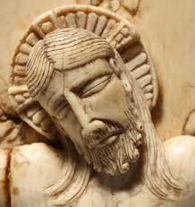 This magnificent Face of Christ is a detail of the 12th century ivory crucifix of Canosa di Puglia, Italy. Of Byzantine origin, the crucifix is a masterpiece of extraordinary beauty and theological significance. It presents the Cross, not as the gibbet, but rather as the royal throne of Love Crucified. The kingship of Christ shines through the Face marked by suffering and, yet, radiant. The eyes are closed, but the effect is one of majesty. The hair and beard are depicted with great…