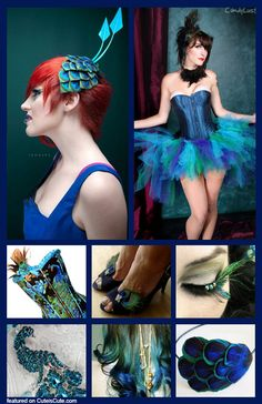 Peacock accessories for my costume. I hope my feathers get here soon! And I learn how to sew.....